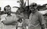 Filippine, Manila, Tondo: a destra pade Adriano Cadei e a sinistra padre Luigi Cocquio.