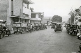 Line of tricycles, 1974