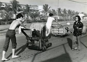 Water conveyors in Tondo, Manila